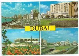 Cpm-cpsm Bon Etat , 10,5x15cm ,  Dubai ,    Multivues , Cachet Courrier Au Verso - Dubai