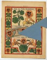 FLEUR CAPUCINE NOISETIER Bordure FRISE Décorative SUCRIER Couverture Protège Cahier  / Coll. Auguste GODCHAUX - Agriculture