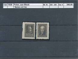 1928 Polen, Aus  Block * (7460) - Unused Stamps