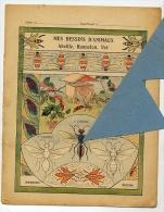 ABEILLE LAPIN Bordure FRISE Décorative Couverture Protège Cahier  / Coll. Auguste GODCHAUX - Agriculture