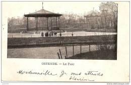 OSTENDE ..-- Le Parc . Vers NALINNES ( Melle Louise DONATIL ) . Voir Verso . - Oostende