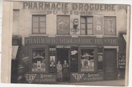 Pharmacie Droguerie Du Tigre - Bilande - Animée - Très Belle Carte Photo - à Situer - Negozi