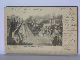 BOIS COLOMBES (92) - LA GARE - ANIMEE - AVEC TRAIN - 1902 - France