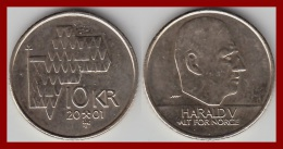 NORWEGEN 10 Kronen 2001 - Norwegen