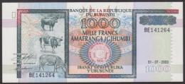 * BURUNDI - 1000 FRANCS 2000 UNC - P 39 C - Burundi