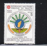 SMOM 1994 POSTA AEREA CONVENZIONE POSTALE MADAGASCAR - INTEGRO - Malta (la Orden De)