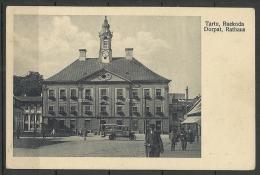 ESTLAND ESTONIA Estonie Ca 1925 Ansichtskarte Tartu Dorpat Rathaus Town Hall - Estonia