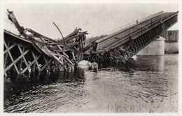 DPT 77 MELUN Le Pont De Chartrette Août 1944 - Melun