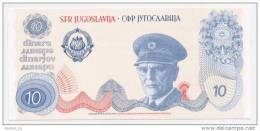 YUGOSLAVIA - JUGOSLAWIEN: 10 Dinar ND1980 UNC  * JOSIP BROZ TITO * PROOF NOTE * UNIFACE - Yougoslavie