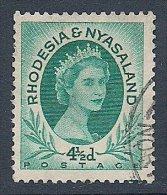 Rhodesia & Nyasaland ~ 1954-56 ~ 4½d. QEII Defin. ~ SG 6 ~ Used - Rhodesia & Nyasaland (1954-1963)