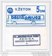 BOSNIA: 5 DM ND(1992) UNC *BOSNAPREVOZ - MAGLAJ*  WAR TIME LOCAL NOTE / Blue - Bosnia Y Herzegovina