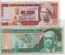 Guiné Bissau Nota 10000 Pesos 1990 Nota 1000 Pesos 1993 Circulé - Guinee-Bissau