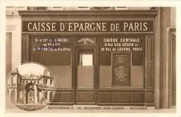 PARIS LA CAISSE D'EPARGNE 9 RUE COQ-HERON ET 19 RUE DU LOUVRE PARIS 75001 BANQUE BANK DEVANTURE - Arrondissement: 01