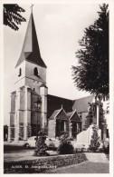 """MY/ Alken """"echte Foto"""" St Aldegondis Kerk (kever, Coccinelle) Drukkerij A. Joris Tubee, Alken - Alken"""