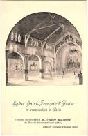 75 PARIS  EGLISE SAINT FRANCOIS D'ASSISE EN CONSTRUCTION - France