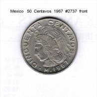 MEXICO   50  CENTAVOS  1967  (KM # 451) - Mexico