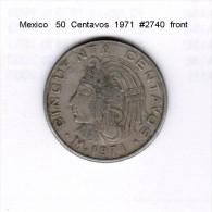 MEXICO   50  CENTAVOS  1971  (KM # 452) - Mexico