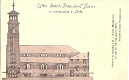 75 PARIS  EGLISE SAINT FRANCOIS D´ASSISE EN CONSTRUCTION - France