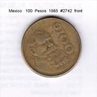 MEXICO   100  PESOS  1985  (KM # 493) - Mexico