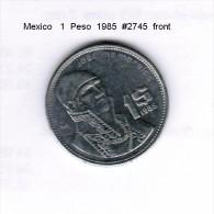 MEXICO   1  PESO  1985  (KM # 496) - Mexico