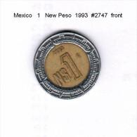 MEXICO   1  NUEVO PESO  1993  (KM # 550) - Mexico