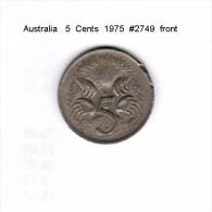 AUSTRALIA   5  CENTS  1975  (KM # 64) - Decimal Coinage (1966-...)