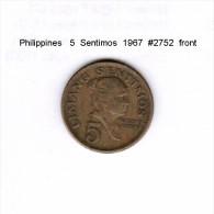 PHILIPPINES   5  SENTIMOS  1967  (KM # 197) - Philippinen