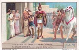 Liebig Vintage Trade Card S1239 Aeneid Part 2 No 2 Addio D'Evandro - Liebig