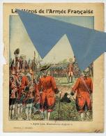 MILITAIRE Les HEROS De L´ ARMEE FRANCAISE Couverture Protège Cahier 1745 FRANCE ANGLAIS à FONTENOY / Coll. CHARIER - Protège-cahiers