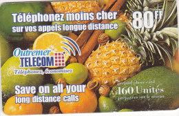 Reunion, 80FF, 160 Units, Tropical Fruits, 2 Scans. - Reunion