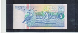 SURINAME -   5  ,   Vijf  Gulden ,  Pick #46   ,  9.JULI 1991   ,  UNC - Surinam