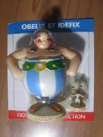 ASTERIX - FIGURINE RESINE PLASTOY / EDITIONS ATLAS - 2000 - OBELIX ET IDEFIX + LIVRET N° 3 - Astérix