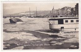 Genève.  -  Le  Lac  Gelé.  Février  1920 - GE Genève