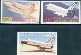MALI 1981 SPACE SHUTTLE SC# C430-32 IMPERF SCARCE VF MNH (D0145) - Ruimtevaart