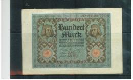 DEUTSCHLAND , Germany ,  Weimarer Rep . Reichsbanknote ,  1 November 1920 , ( 100 )  Hundert Mark  Pick # 69 , Gebraucht - 1918-1933: Weimarer Republik