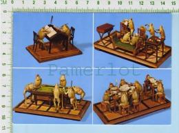 Taxidermie  Suisse Estavayer Musée ( 4 Scenes De Grenouilles ) Post Card Carte Postale 2 Scans - Métiers