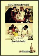 Reklame Werbeanzeige  -  Scharlachberg Meisterbrand  ,  Die Zeiten ändern Sich - Das Gute Bleibt  ,  Von 1972 - Alkohol