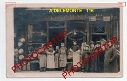 Epicerie-A. DELEMONTE-116 Rue Montmartre-!?-Animation-CARTE PHOTO-FRANCE-FRANKREICH- - Arrondissement: 02