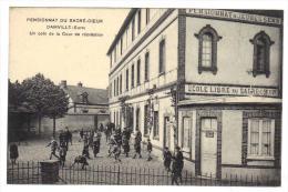 Pensionnat Du Sacré Coeur Damville Un Coin De Cour De Récréation  Cpa Animée 27 Eure Normandie - Francia