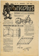 BRICOLUS BRICOLAGE N°33 Mai 1950 / Remorque VELO MOTO Voir Détails Et Sommaire - Other Collections