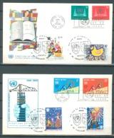 1969 - 2 FDC ONU/UNO Mi 214-217 WITH 1492-1495 UNICEF DAG VAN DE VERENIGDE STATEN KNOKKE 28.6.1969- Lot 8471 - België