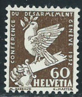 Svizzera 1932 Nuovo(*) - Mi.254  Yv.258  Vedi SCAN  Senza Gomma - Svizzera