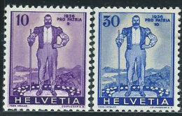 Svizzera 1936 Nuovo* - Mi.294;296  Yv.286;288  Vedi SCAN - Nuovi