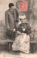 L'AMOUR AU PAYS D'ANJOU VOICI QU'UN ROSSIGNOL .....  CIRCULEE 1905 - Personnages