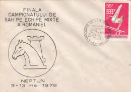 CHESS, ECHECS, NATIONAL CHAMPIONSHIP, SPECIAL COVER, 1981, ROMANIA - Schaken