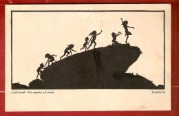 SILHOUETTES .DIEFENBACH : PER ASPERA AD ASTRA . Teübild 18 . Groupe D' Enfants Escaladant Un Rocher - Silhouette - Scissor-type