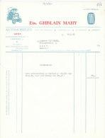 Facture Invoice Kredietnota Garage Ghislain Mahy Fiat Gent 1962 Auto Automobielen Voitures - Cars
