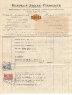 Facture Invoice + Advertising Envelope Belgian Shell Company 1931 Belgian Benzine Bruges > Knocke - Cars