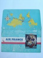 TICKET DE TRANSPORT - AVIATION - AIR FRANCE - BILLET DE PASSAGE - 1959 - TOULOUSE PHILIPPEVILLE (ALGERIE) - A.R. - Altri