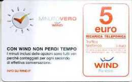 Ricarica Wind Minuto Vero - € 5,00 - 31.12.2016 - Schede GSM, Prepagate & Ricariche